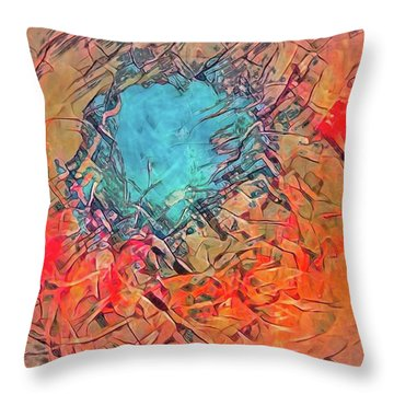 Abstract 49 Throw Pillow