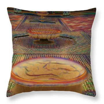 Abstract Architecture Morocco  Throw Pillow