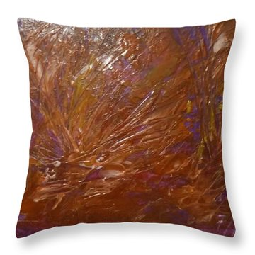 Abstract Brown Feathers Throw Pillow