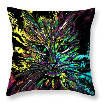 Abstract Cat  Throw Pillow