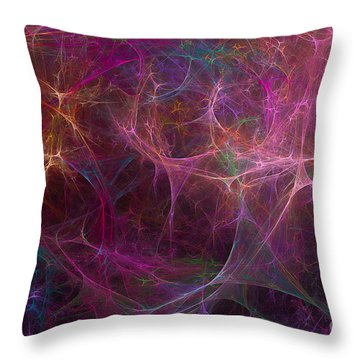 Abstract Colorful Fireworks Throw Pillow