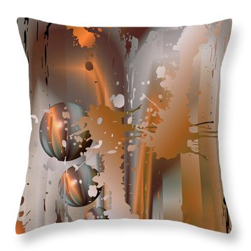 Abstract Copper Throw Pillow