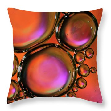 Abstract Droplets Throw Pillow