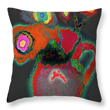 Abstract Floral Art 364 Throw Pillow