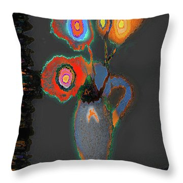 Abstract Floral Art 367 Throw Pillow