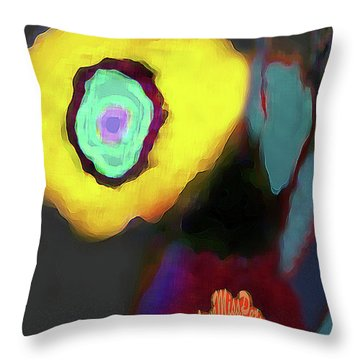 Abstract Floral Art 371 Throw Pillow