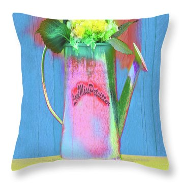 Abstract Floral Art 377 Throw Pillow