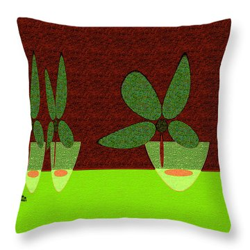 Abstract Floral Art 385 Throw Pillow