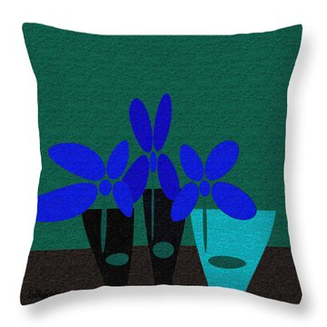 Abstract Floral Art 392 Throw Pillow