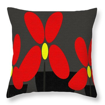Abstract Floral Art 393 Throw Pillow