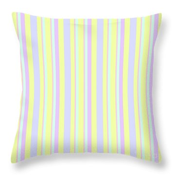 Abstract Fresh Color Lines Background - Dde595 Throw Pillow