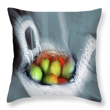 Abstract Fruit Art   104 Throw Pillow