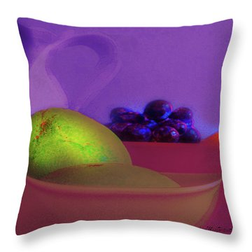 Abstract Fruit Art  109 Throw Pillow