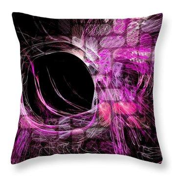 Abstract Heaven Magenta Throw Pillow