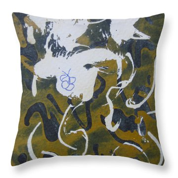 Throw Pillow featuring the drawing Abstract Human Figure by AJ Brown