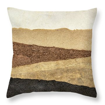 Abstract Landscape In Earth Tones Throw Pillow
