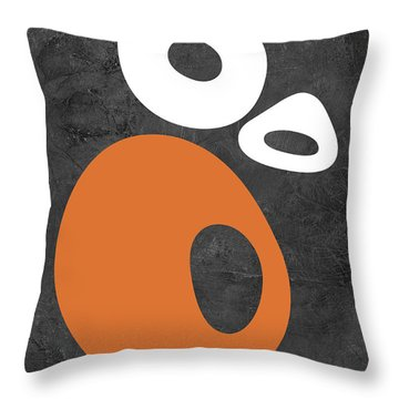 Abstract Oval Shapes I Throw Pillow