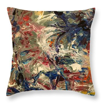 Abstract Puzzle Throw Pillow