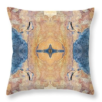 Abstract Stone Pattern Throw Pillow