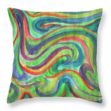 Abstraction In Summer Colors Throw Pillow