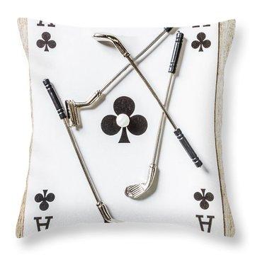 Golfing Throw Pillows