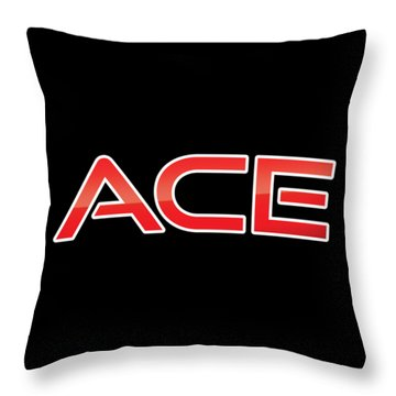Throw Pillow featuring the digital art Ace by TintoDesigns