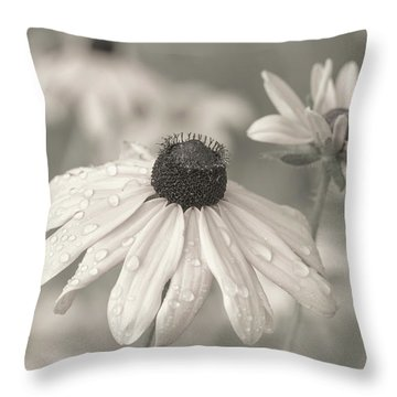 Throw Pillow featuring the photograph Achromatic Adoration by Dale Kincaid