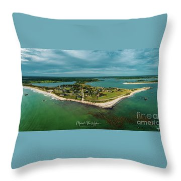 Throw Pillow featuring the photograph Acoaxet Life, Westport by Michael Hughes