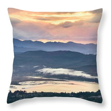 Throw Pillow featuring the photograph Across The Bay by Whitney Goodey
