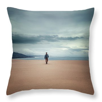 Across The Sands Of Time Throw Pillow
