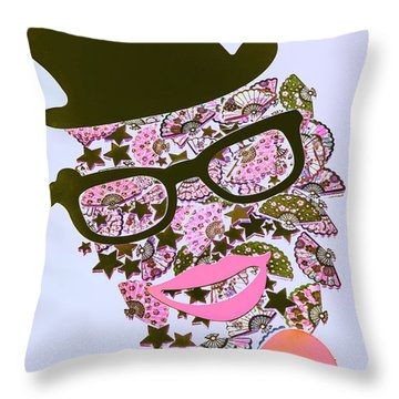Actin Expressionism Throw Pillow