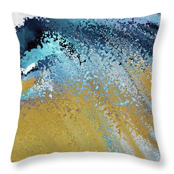 Throw Pillow featuring the painting Acts 22 16. Why Are You Waiting by Mark Lawrence