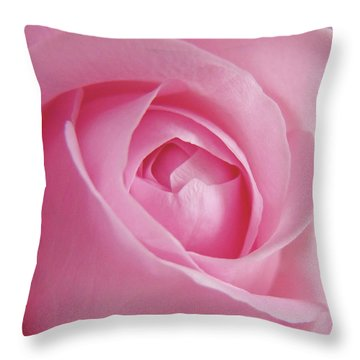 Throw Pillow featuring the photograph Adorable Pink Rose Macro Photo by Johanna Hurmerinta