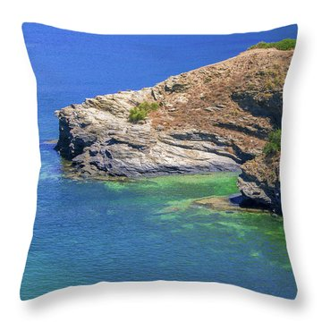 Aegean Coast In Bali Throw Pillow