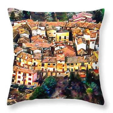 Aerial View Of Ripa In Umbria Throw Pillow