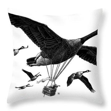 Aero Canada - Bw Throw Pillow