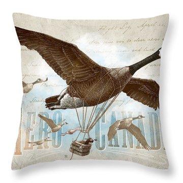 Aero Canada Throw Pillow