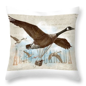 Aero Canada Throw Pillow