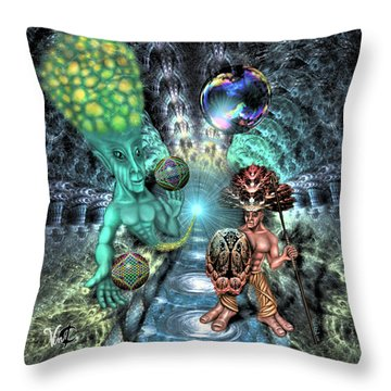 Aethereal Encounter Throw Pillow