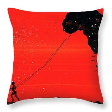 Africa Kite Throw Pillow