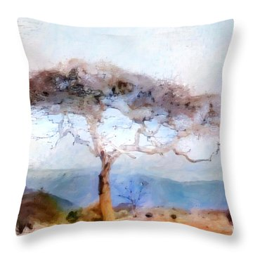African Journey Throw Pillow