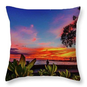 After Sunset Colors Throw Pillow