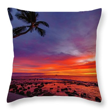After Sunset Vibrance Throw Pillow