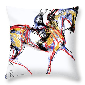 After The Derby Throw Pillow