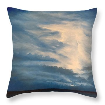 Throw Pillow featuring the painting After The Storm by Kevin Daly