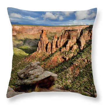 After The Storm Light On Colorado National Monument Throw Pillow