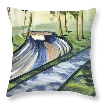 Afternoon In The Park Throw Pillow