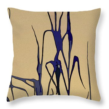 Throw Pillow featuring the digital art Afternoon Shadows by Gina Harrison