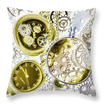 Age Of Circular Machines Throw Pillow