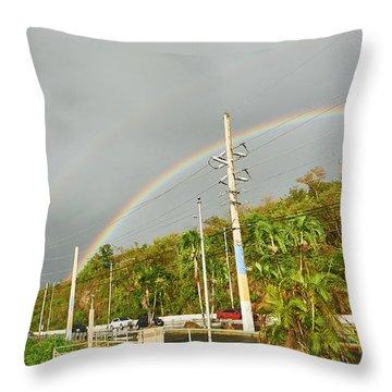 Aguadilla Rainbow Throw Pillow
